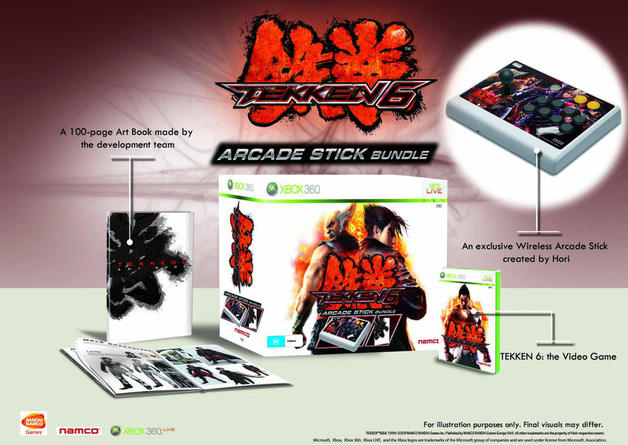 Tekken 6 Limited Edition Game Arcade Stick Artbook X360 Buy Now At Mighty Ape Nz