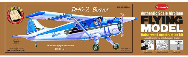 DHC-2 Beaver 1:24 Balsa Model Kit