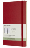 Moleskine Large Hard Cover 12 Month Weekly Planner - Scarlet Red
