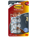 Command Clear Medium Cord Organiser with Strips (4 Pack)