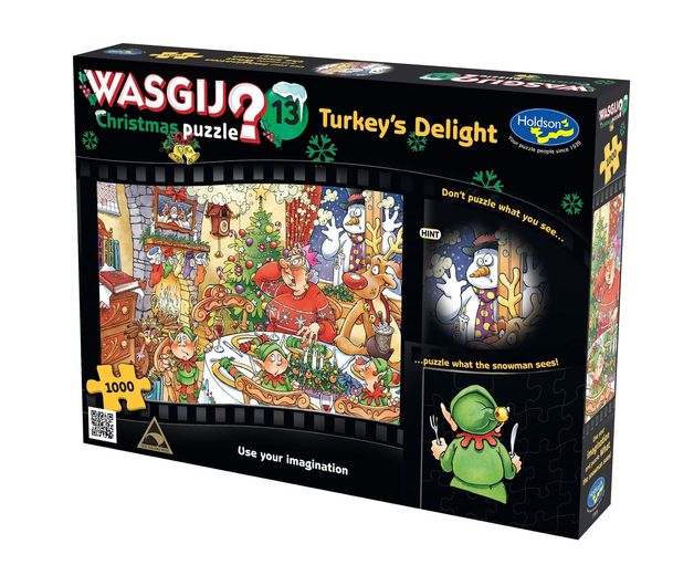Wasgij: 1000 Piece Puzzle - Christmas (Turkey's Delight!)