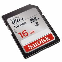 16GB SanDisk Ultra Class 10 SDHC UHS-I Up to 80MB/s Memory Card image