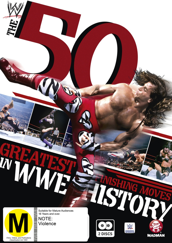 WWE: 50 Greatest Finishing Moves In WWE History on DVD