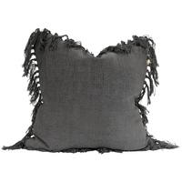 Raine & Humble Jute Tassel Cushion (Charcoal)