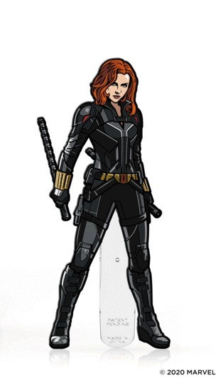 Marvel: Black Widow [Black Suit] (#398) - Collectors FiGPiN (With a chance of a Chase version!)