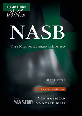NASB Pitt Minion Reference Bible, Black Goatskin Leather, Red Letter Text NS446:XR image
