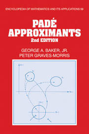 Pade Approximants by George A Baker