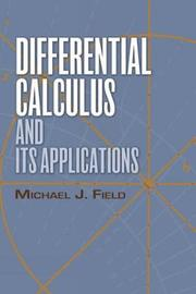 Differential Calculus and Its Applications by Field