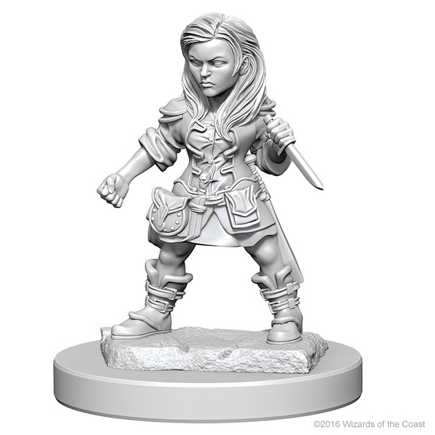 D&D Nolzurs Marvelous: Unpainted Minis - Halfling Female Rogue