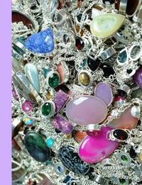 Sparkling Silver & Crystal Gemstones Blank Notebook Journal by Ahri's Notebooks & Journals