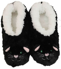 Slumbies Cat Furry Foot Pals Slippers (S)