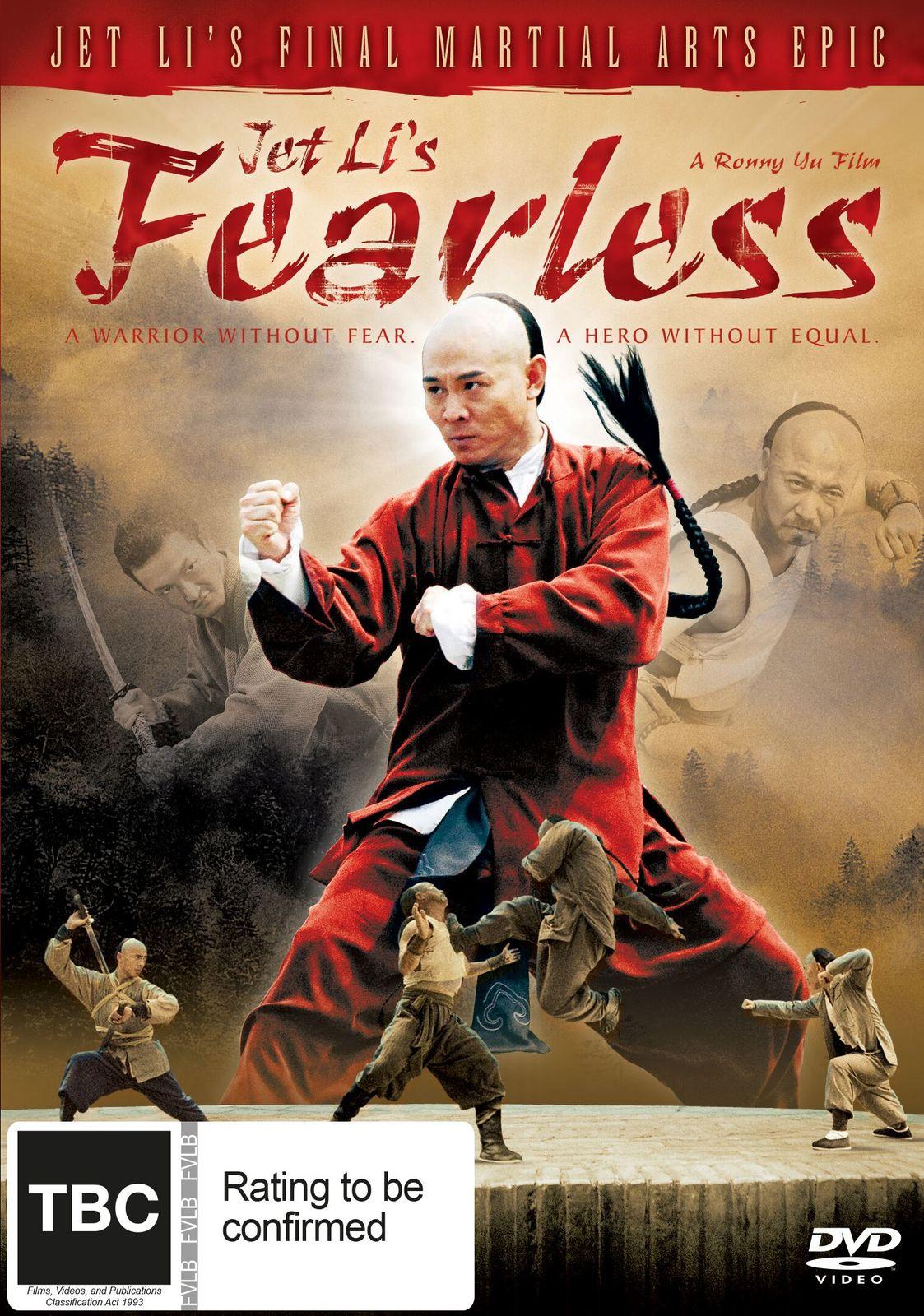 Jet Li's Fearless on DVD image
