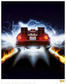 Back to the Future: Premium Art Print - Delorean #1