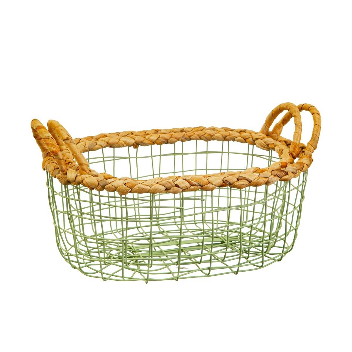 Sass & Belle: Green Wire Storage Basket (Set of 2) image
