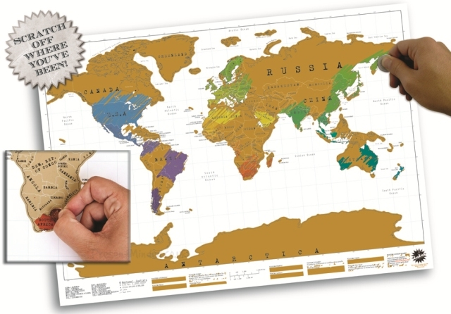 Scratch Off World Map At Mighty Ape NZ - Scratch off us state maps with pencil