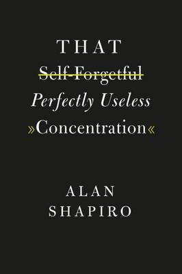 That Self-Forgetful Perfectly Useless Concentration by Alan Shapiro