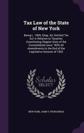 Tax Law of the State of New York by New York image