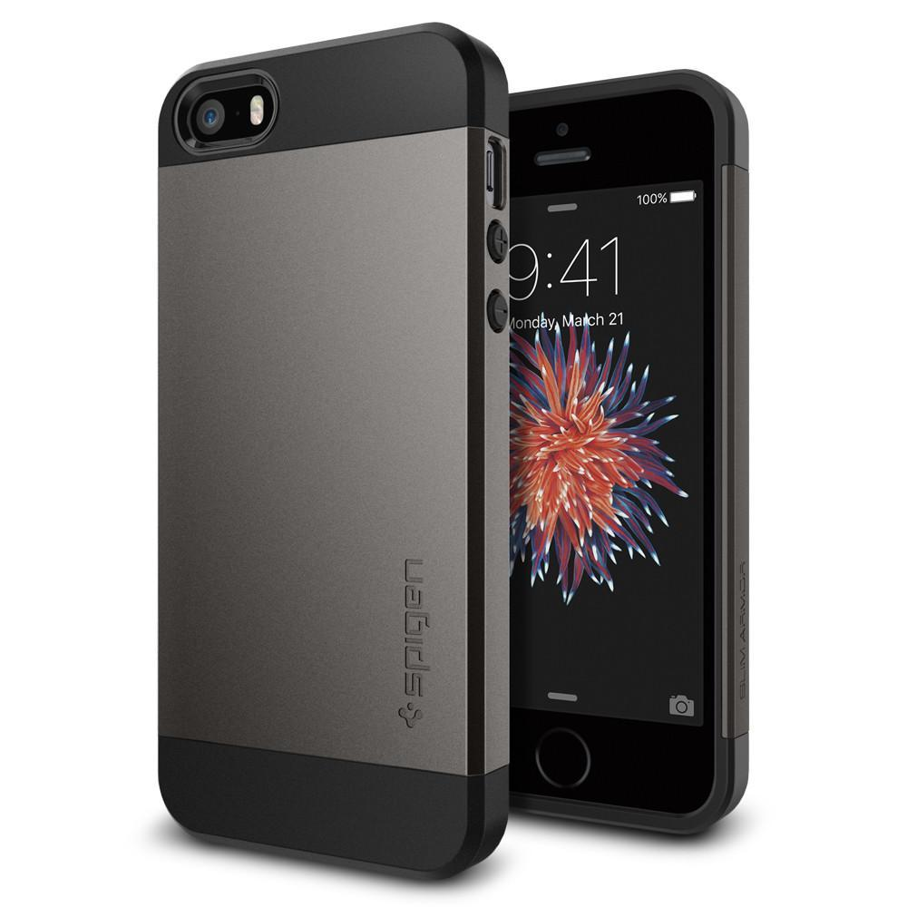 Spigen: iPhone SE/5s/5 Slim Armour Case - (Gunmetal) image