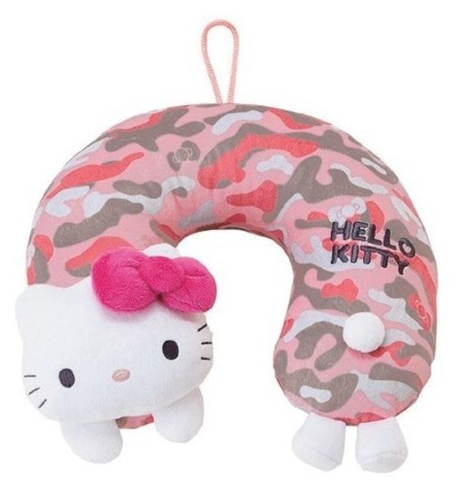 Hello Kitty: Neck Pillow - Pink Camouflage