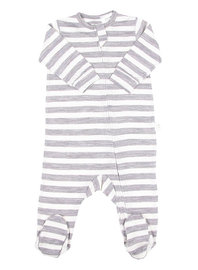 Babu: All-in-one with feet - Grey Stripe image