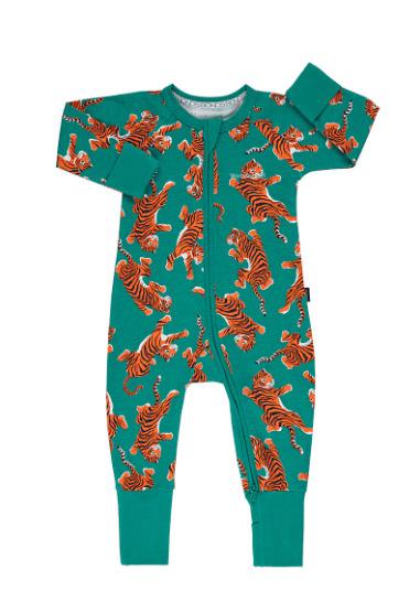 Bonds: Zip Wondersuit - Green Climbing Tigers (Size 0)
