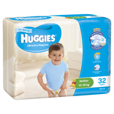 Huggies Ultra Dry Nappies Bulk - Walker Boy 13-18kg (32)