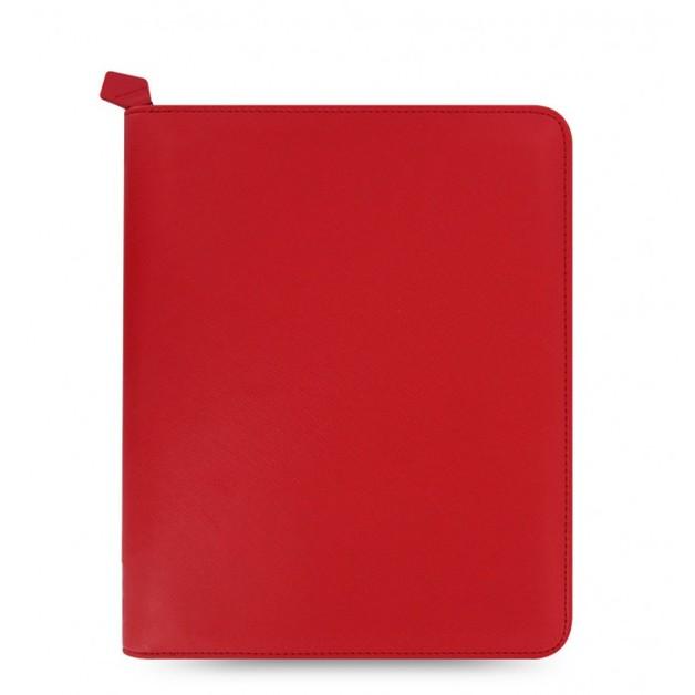 Filofax Saffiano Zip Large Tablet Cover - Poppy