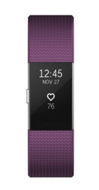 Fitbit: Charge 2 Heart Rate + Fitness Wristband - Large (Plum) image