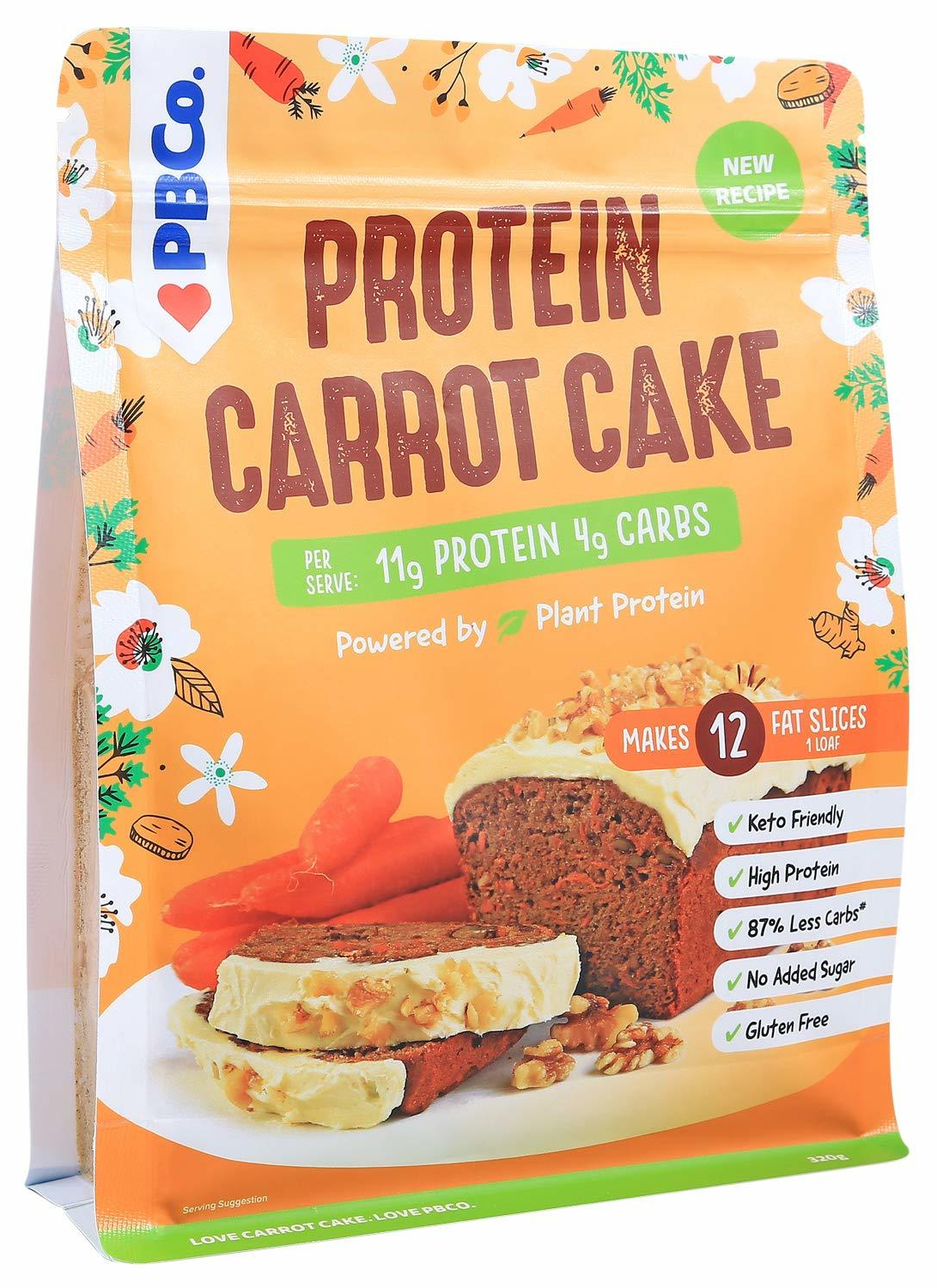 PBCo. Plant Based Protein Carrot Cake 320g image