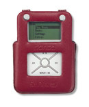 SanDisk Sansa E100 Red Leather Case