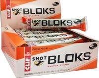 Clif Bar Shot Bloks Energy Chews - Orange (Box of 18)