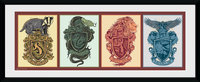 Harry Potter: House Animals - Framed Print