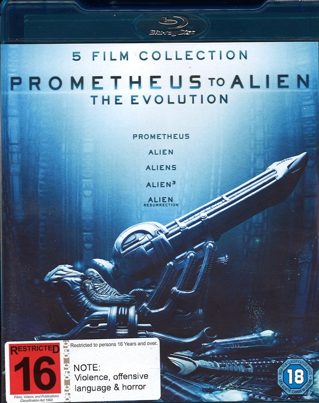 Prometheus To Alien: The Evolution Collection on Blu-ray