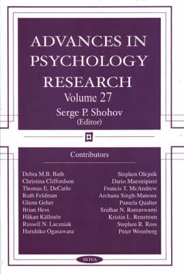 Advances in Psychology Research: v. 27 image