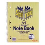 Spirax 606 2 Subject Notebook A4