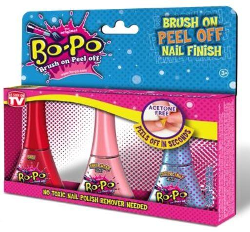 Bo-Po Peel-Off Nail Colour - Mylar 3 Pack image