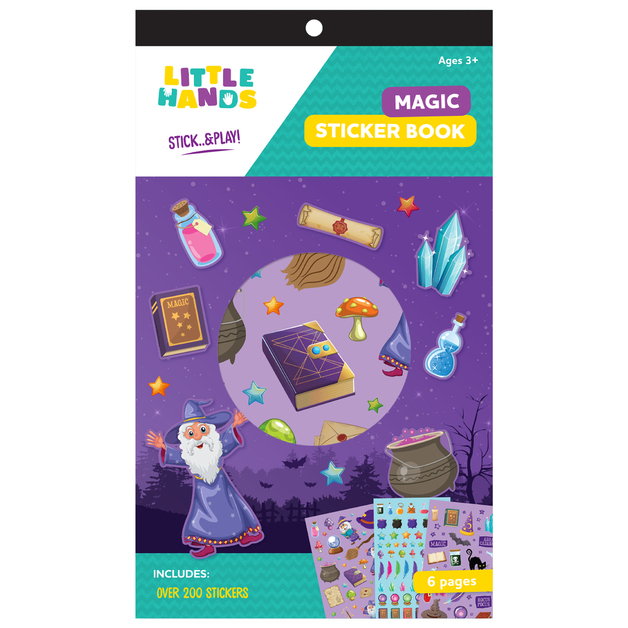 Little Hands: 6-Page Sticker Book - Magic (Assorted Designs)