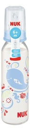 NUK: Classic Glass Bottle With Size 2 Teat (230ml) - Blue