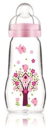MAM Feel Good Glass Bottle 260ml - Pink