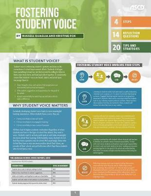 Fostering Student Voice (Quick Reference Guide 25-Pack) by Russell Quaglia
