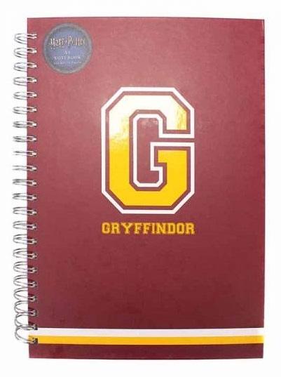 Harry Potter: A4 Spiral Notebook - G for Gryffindor