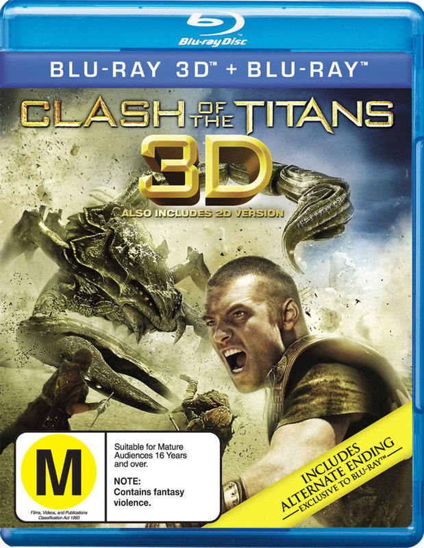 Clash of the Titans 3D & 2D on Blu-ray