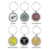 Game of Thrones House Sigil Wine Charm Set