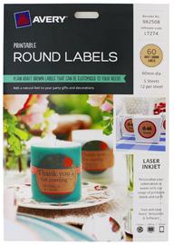 Avery Brown Kraft Labels (60 Labels)