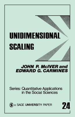 Unidimensional Scaling by John P. (Paul) McIver