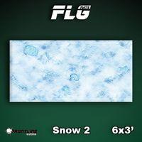 FLG Snow #2 Neoprene Gaming Mat (6x3)