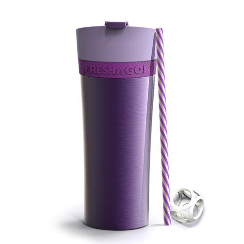 Asobu Fresh N Go Double Wall Shaker Tumbler - Purple (500ml)
