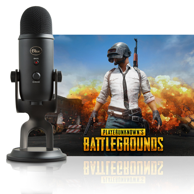Blue Microphones Yeti Multi-Pattern USB Microphone (Blackout PUBG Edition) for PC