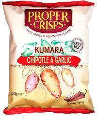 Proper Crisps - Kumara Chipotle & Garlic (100g) image