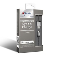 Verbatim Metallic Charge & Sync Lightning Cable - Silver image